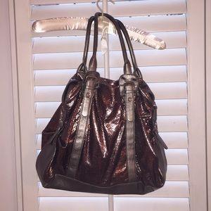Shiny handbag